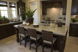 High End Dark Cabinets Light Countertops Warm the Kitchen with