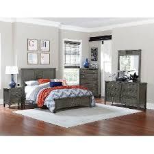 full bedroom. casual classic gray 6-piece full bedroom set - garcia r