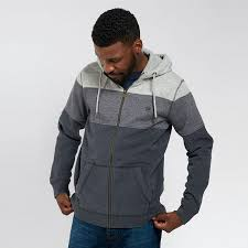 Fatface Mens Contemporary Pembroke Cut And Sew Zip Hoodie