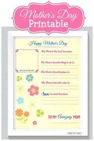 mother s day printable me and my mom printable  have the kids fill out this all about my mom mothers day printable you ll love to see how they customize this printable and it will