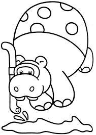 Kleurplaat Hippo 6916 Kleurplaten