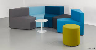 sofa for office. 77 booth style office sofa in blue for