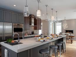Kitchen Design Bright Spaces Home Ideas Grey Cabinets Open - Mid century modern kitchens
