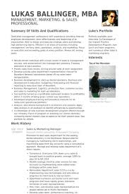Sales Marketing Manager Resume Samples Visualcv Resume Samples