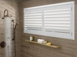 blinds for bathroom window. Palm Beach™ Polysatin Shutters In A Bathroom Shower - Buy At Window Fashions By Design Blinds For X