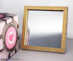 diy painted mirror frame. Geek Decor: DIY Gold LEGO Frame With Spray Painted LEGO\u0027s Diy Mirror T