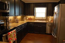 painting kitchen cabinets dark color painted ideas before and after refinishing cabinet doors paint pictures wood
