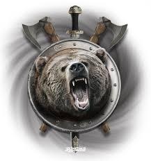 фото эскизы тотемный медведь в стиле славянский татуировки на