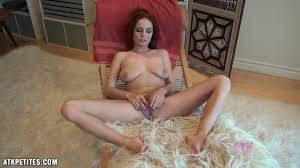 Babe rubs her amazing tits and masturbates her pussy outdoor.