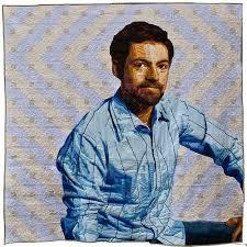 Luke Haynes Self Portrait and 3D Illusion Quilts | Make: & lukehaynes_self_portrait_quilt.jpg Adamdwight.com