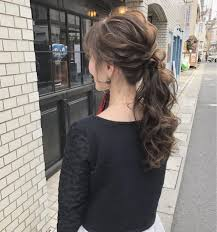 ロング ヘアアレンジ 結婚式 ポニーテールcherie Hair Design Hiide