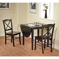 Image Antique Image Unavailable Amazoncom Amazoncom Black 3piece Country Cottage Dining Set Table And