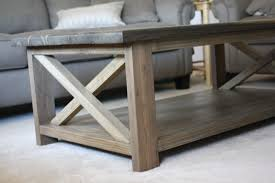 ... Brown Rectangle Reclaimed Wood Rustic X Coffee Table Designs To  Complete Living Room Ideas ...