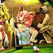 excellent prev with pictures of dogs playing pool