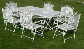 wrought iron patio furniture vintage. Antique Wrought Iron Furniture Vintage White Patio L