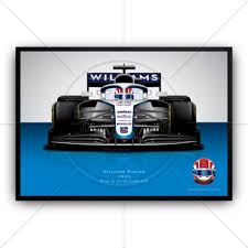 Our superb quality vivid images are printed by a local professional photographic printer. George Russell In 2020 Williams Formula 1 Wall Art Poster Print The Gpbox