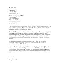 Cover Letter Nursing Examples Registered Nurse Sample Forob
