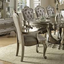 Silver Dining Room Set Florentina 9 Piece 84x44 Dining Room Set In Taupe Rich Silver D