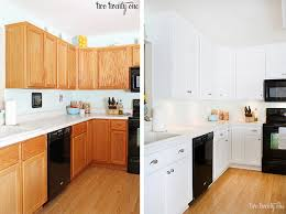 oak kitchen cabinets painted white before and after home design
