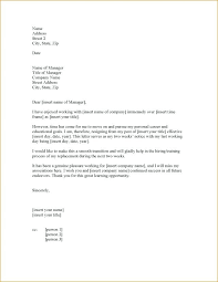Letter Of Resignation 2 Weeks Notice Template Fascinating 48 Week Resignation Letter Professional Two Weeks Notice Managers