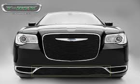 chrysler 2015 black. trex chrysler 300 billet series bumper grille overlay with black powder coat 2015