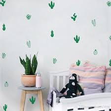 there are 8 different styles of cacti included in this set you will receive 2 of each style for a total of 16 cactus decals or 4 of each style for a total  on cactus wall art nz with cactus wall decals woodland tribal cactus wall stickers for kids