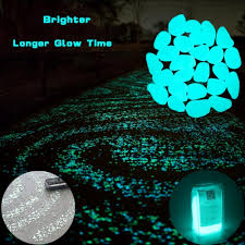 details about brighter glow in the dark garden pebbles decorative glowing decor stones 100 pcs