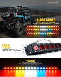 Chase Light Bar Utv Details About Xprite Utv Atv 4x4 Rear Chase Light Bar With Running Reverse Brake Strobe Lights
