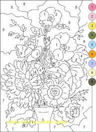 Free Coloring By Number Pages Numbers Sheets Preschool 1 Printable