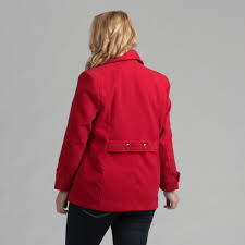 full figured double ted pea coat