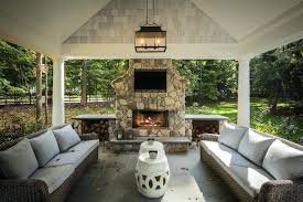 patio fire place outdoor fireplace covered garden design with screened porch designs d