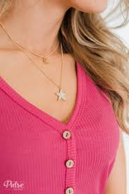 Light Up The Night Star Moon Necklace Gold The Pulse