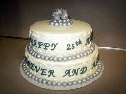Pictures 5 Of 11 Round 25th Anniversary Cake Ideas Photo Gallery