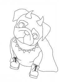 Pug Dog Coloring Pages At Getdrawingscom Free For Personal Use