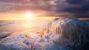 Sunset Winter Beach Wallpaper - Novocom.top