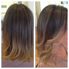 Ombré Hair Color Blonde Highlights Blended