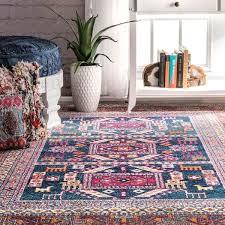 nuloom bohemian tribal navy rug 9 x 12 living room 6x9 rugs