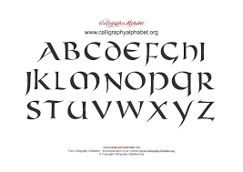 Alphabet Chart Pdf Download Celtic Calligraphy Pdf Chart