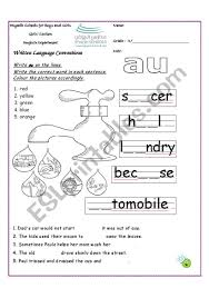 Printable phonics worksheets for kids. Write Au On The Lines Phonic Au Esl Worksheet By Fafauu