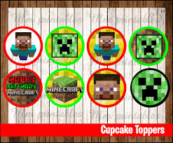 Printable Minecraft Cupcake Toppers Awesome Off Sale Minecraft Party