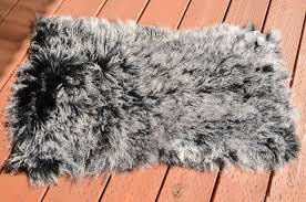 2 x 4 tibetan mongolian lamb fur rug frosted black contemporary area rugs by curly fur imports