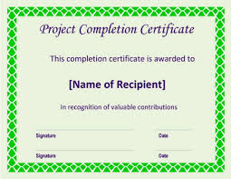 5 Project Completion Certificate Templates Pdf Doc Word
