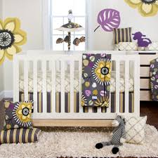 adorable baby nursery interior with best bedding set for baby girls and beige plaid fitted