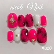 メルカリ 800 ピンクのターコイズネイル カラー変更 無料