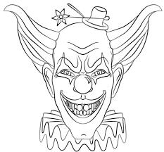 Kwade Gezicht Clown Kleurplaat Gratis Kleurplaten Printen