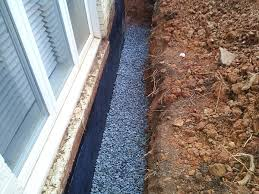 exterior tile wall installation. basement waterproofing, footer tiles, interior and exterior tile wall installation