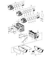 porsche 356 356b 356c parts cylinder head cylinder piston