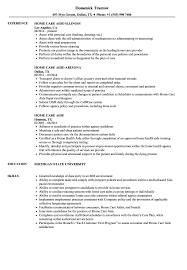 Home Health Care Resume Home Care Aide Resume Samples Velvet Jobs With Home Health Aide