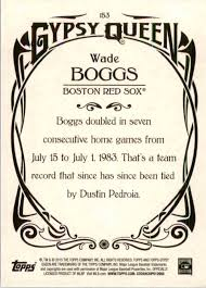 2015 Topps Gypsy Queen Wade Boggs #153 on Kronozio