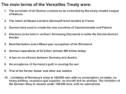 unit lesson did the treaty of versailles set the stage for primary source the treaty of versailles